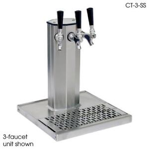 Glastender Ct 2 pbr ld 2 faucet Brass Glycol Column Tower