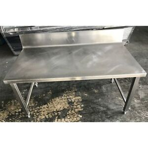 Used 24 X 48 Work Table With Back Splash ud 24x48 101017 u