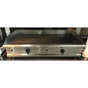 Used 48 Flat Top Griddle Counter top gas ud 48gg 101417 u