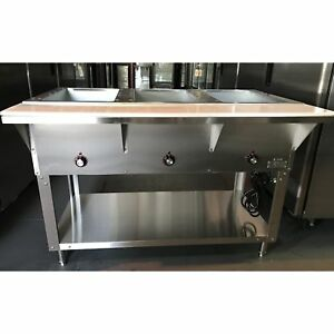 Steamtable New 3 Well Electric Steamtable st 50053 16040071 n