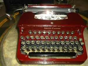 Antique 1931 Smith Corona Model S c Maroon red