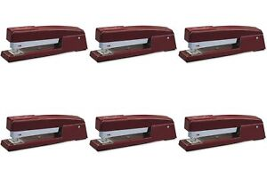 Swingline 747 Classic Desk Stapler In Lipstick Red s7074718e 6 Packs