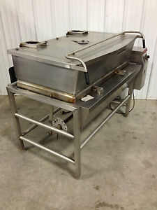 Market Forge Tilt Skillet Model 1300 Natural Gas 120v Braising Pan W lift Tested