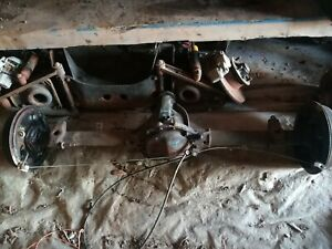 1972 Mgb Complete Differential With Axle Shaft And Drum Rear End