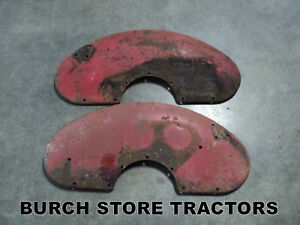 Pair Of Original Fenders For Farmall 140 130 Super A 100 Tractors