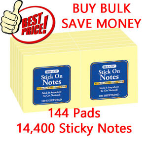14400 Sticky Pop up Notes 3 X 3 inches Canary Yellow
