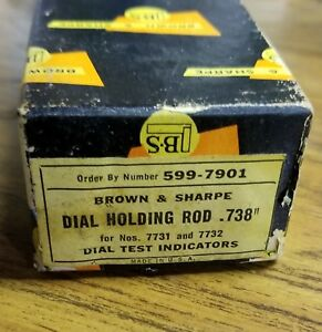 Brown And Sharpe Dial Holding Rod 738 599 7901