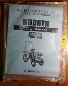 Kubota Model B4200d Tractor Illustrated Parts List Manual 07909 50380 7 86