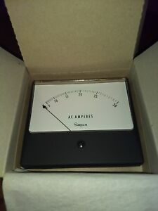 Simpson Electric 03335 ac Analog Current Panel Meter 1359 0 30 Aca 4 5 Inch