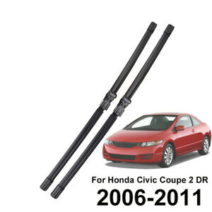 28 24 2pcs Set Front Windshield Wiper Blades For Honda Civic Mk8 Coupe 2005 11