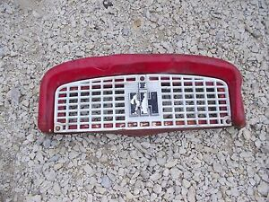 Farmall 340 Rc Tractor Ih Ihc Front Nose Cone Top Grill Bonnet Ih Emblem