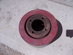 Farmall H Sh 300 350 Hv Tractor Orignl Ihc Paper Belt Pulley Real Good
