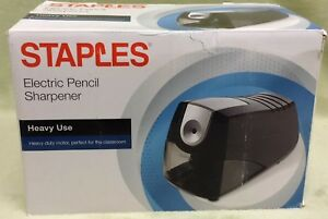 Nip Staples Power Extreme Electric Pencil Sharpener Heavy duty Black Free S h