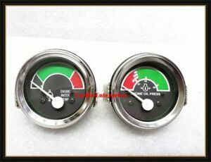 At104658 at164542 John Deere Tractor Engine Oil Pressure Water Temp Gauges