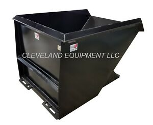 New 2 Cubic Yard Skid Steer Loader Dump Hopper Dumpster Attachment Bobcat