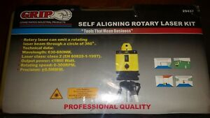 Grip Self Aligning Rotary Laser Level Kit new In Box