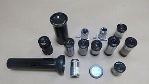 Lot Of 13 Pieces Reichert Microscope Lenses Lens 3 5x 5x 6x 8x