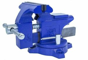 Bench Clamp Steel Vise Jaws Built In Pipe Holding Small Pipes And Tube Tool 4 5