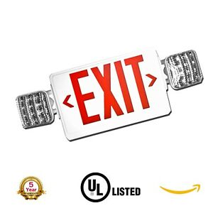 Led Exit Sign Emergency Light Combo