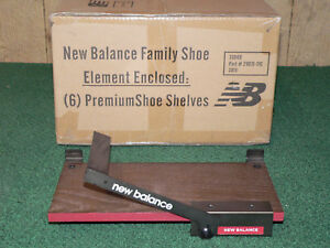 Lot Of 6 New Balance Branded Slat Wall Premium Shoe Display Shelves new In Box