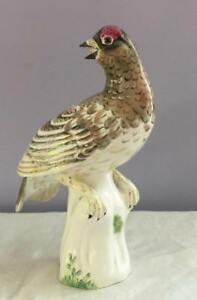Rare M Doubell Miller Crown Staffordshire White Partridge No 16 Bird Figurine