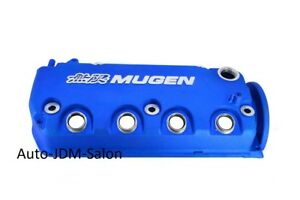 Blue Mugen Style Engine Valve Cover For 1996 2000 Honda Civic Sohc Vtec D16y7