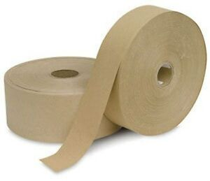 2 400 Feet 4 Roll Pack Water Activated Brown Kraft Paper Tape