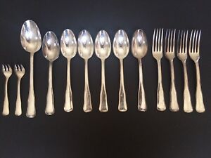 Metal Alliages Blanc French Heavy Silverplate Flatware Mixed Lot