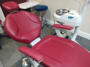 Dpm 2000 Dental Chair Color Red With 1hp Compressor Display Unit