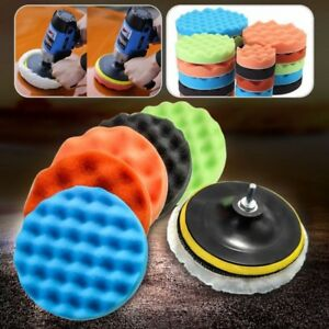 Us 3 7inch Car Sponge Polishing Waxing Foam Buffing Pads Kit Car Buffer Polisher