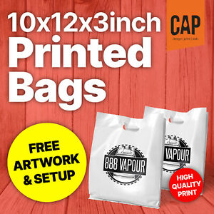 Plastic Carrier Bags X small Polythene Bag With Custom Personalised Printing