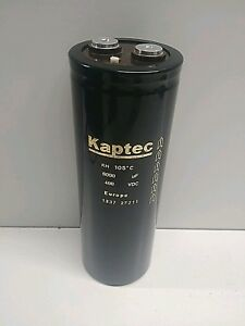New Old Stock Kaptec 400vdc 6000uf Capacitor 1337 27211