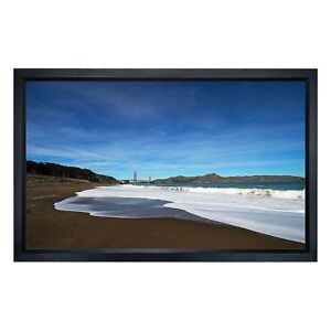 150 Fixed Projector Screen Hd White 16 9 Aluminum Frame Home Theater Projection