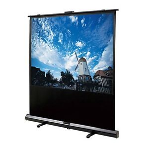 100 Manual Projector Screen White Matte 4 3 Pull up Hd Home Theater Projection