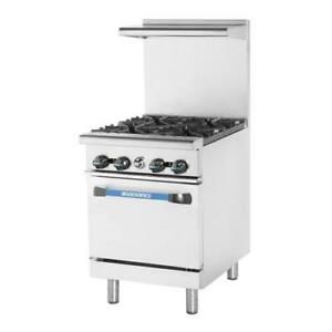 Turbo Air Tar 4 24 In Restaurant Range W 4 Burners Standard Oven
