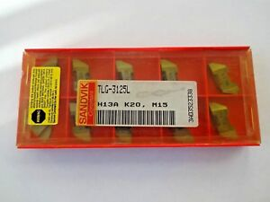 lot Of 10 Sandvik Coromant Tlg 3125l H13a Carbide Inserts