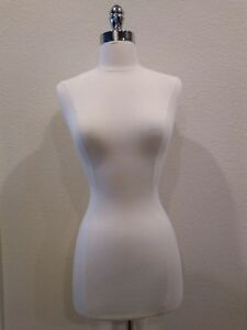 Female Mannequin Torso Clothing Dress Display W chrome Metal Stand Great Quality