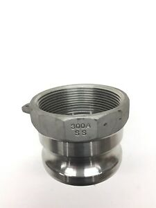 3 Type 300a Stainless Steel Male Camlock X Female Pipe Npt