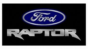 New Ford Raptor Blue Logo Acrylic License Plate