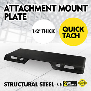 1 2 Quick Tach Attachment Mount Plate Skid Steer Universal Stump Buckets Newset