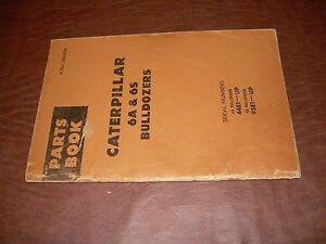 Caterpillar Cat D6 Blade Bulldozer Parts Book Manual 6a 6s Cable Hydraulic Cable