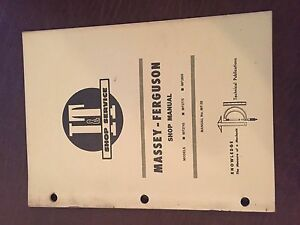 I t Massey Ferguson Shop Tractor Service Manual 2745 2775 2805 Mf2745 Mf2805