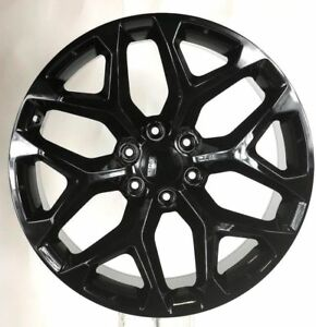 Gmc 20 Gloss Black Snowflake Wheels Rims 2000 18 Sierra Yukon Denali Trucks Suv
