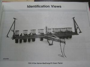 1982 John Deere 7200 Maxemerge 2 Drawn 6 rw 8 rn Planter Operator s Manual H6