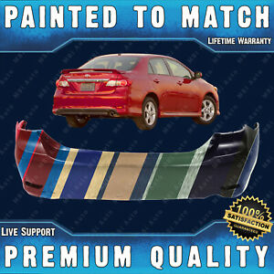 New Painted To Match Rear Bumper Direct Fit For 2011 2013 Toyota Corolla S Xrs