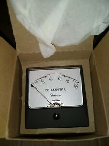 Simpson Electric model 02540 1227a Dc Amperes Panel Meter 1 100dca 2 5 Inch