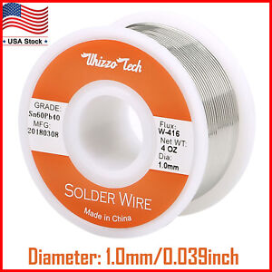 60 40 Tin Lead Rosin Core Solder Wire For Electrical Solderding 039 1 0mm 100g