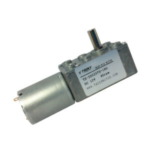 Dc Small Worm Geared Motor Variable Speed Gear Motor 370 Motor Diameter 6mm