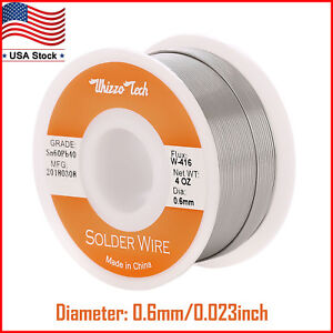 60 40 Tin Lead Rosin Core Solder Wire For Electrical Solderding 0 023 Inches 4oz