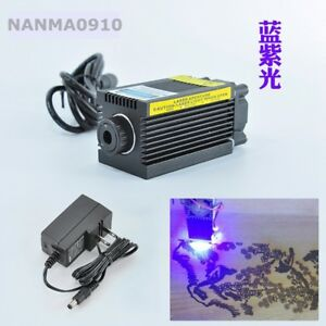 405nm 300mw Purple Violet blue Dot Laser Diode Module Carving W 12v Ac Adapter